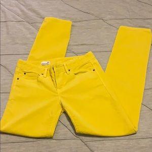GAP Straight Leg Bright Yellow Corduroy Pants